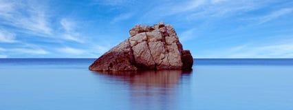 La côte un jour bleu dans Ibiza Images stock