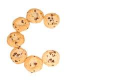 La C è per i biscotti di pepita di cioccolato Immagini Stock Libere da Diritti