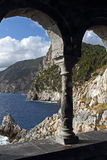 La côte chez Portovenere Photos stock