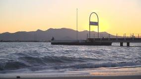 La Côte d'Azur au coucher du soleil clips vidéos