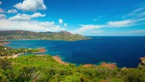 La Côte d'Azur, temps-faute panoramique banque de vidéos
