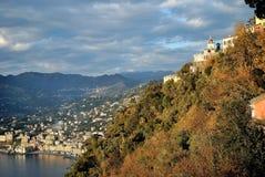 La côte de Gênes dans un jour ensoleillé Images libres de droits