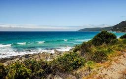 La côte de l'océan pacifique images libres de droits