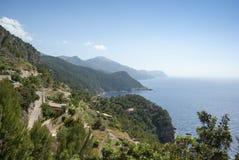La côte de la mer Méditerranée Image libre de droits