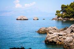 La côte de Maratea, Basilicate, Italie Photos stock