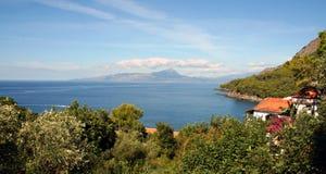 La côte de Maratea, Basilicate, Italie Image libre de droits