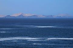 La côte de paracas et l'océan Photos stock