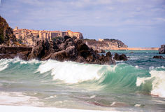La côte de Tropea, Calabre, Italie Image stock