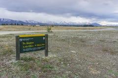 La côte ouest la plus proche d'endroit étonnant non identifié, île du sud, Nouvelle-Zélande Image libre de droits