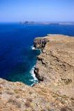 La côte rocheuse de la Grèce Images stock