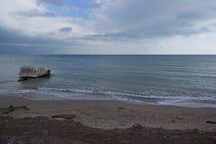 La côte roumaine de la Mer Noire - la Mer Noire de Roumain Photographie stock