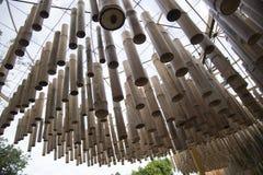 La caída adornó maravillosamente el bambú Foto de archivo