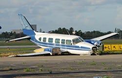 La caída aterrizó el aeroplano fotos de archivo libres de regalías