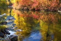 La caída colorea el río Washington de Wenatchee Imágenes de archivo libres de regalías