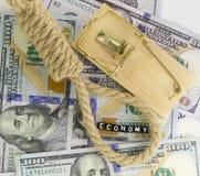 La caída de la economía Imágenes de archivo libres de regalías