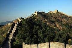La caída de la Gran Muralla de Jinshanling en Chengde Hebei, China Fotos de archivo libres de regalías