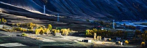 La caída de la meseta tibetana Imagenes de archivo