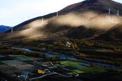 La caída de la meseta tibetana Fotos de archivo libres de regalías