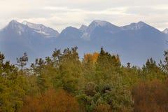 La caída de las montañas colorea Montana Fotografía de archivo libre de regalías