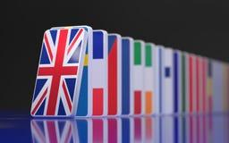La caída de los dominós del Eu stock de ilustración