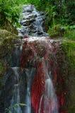 La caída del agua roja Imágenes de archivo libres de regalías