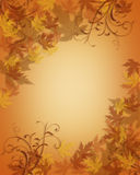 La caída del otoño de la acción de gracias deja el fondo stock de ilustración
