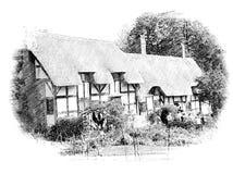 La cabaña de Anne Hathaway stock de ilustración