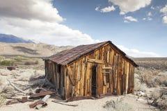 La cabaña del minero en Benton Hot Springs Foto de archivo
