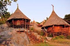 La cabaña en el acantilado Imagenes de archivo