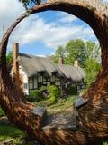La cabaña y el jardín de Anne Hathaway Fotografía de archivo