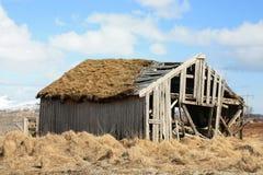 La cabane de Lofoten abandonné Images stock