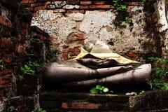 La cabeza de Buda está quebrada Fotos de archivo