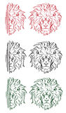 La cabeza de un león Imágenes de archivo libres de regalías