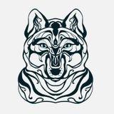 La cabeza del lobo de los gráficos ilustración del vector