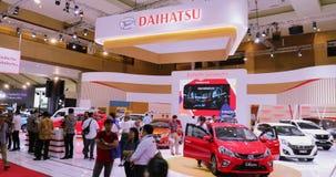 La cabina de Daihatsu exhibe diversos tipos del coche