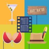 La cabina de la foto apoya el ejemplo del vector Imágenes de archivo libres de regalías