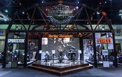 La cabina de Harley Davidson en el 37.o salón del automóvil del International de Bangkok Imagenes de archivo