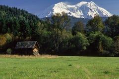 La cabina de Rainier Settler Imagenes de archivo
