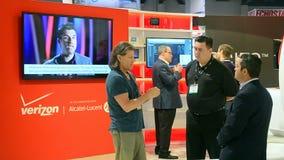 La cabina de Verizon, AGARRA la demostración 2015, Las Vegas, los E.E.U.U., metrajes