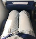 La cabina dell'aeroplano ha cintura di sicurezza per ogni sedile fotografia stock libera da diritti