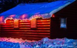 La cabina dell'orso nero Immagine Stock