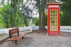 La cabina della cabina di telefono dell'annata. Fotografia Stock Libera da Diritti