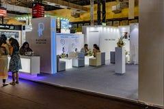 La cabina della cooperativa del platino a IIJS 2015 Immagini Stock