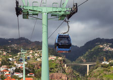 La cabina di funivia di Funchal Immagini Stock