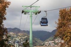 La cabina di funivia di Funchal Fotografia Stock