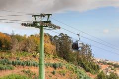 La cabina di funivia di Funchal Fotografie Stock