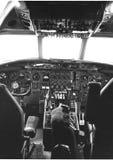 la cabina di pilotaggio di un aereo 70 anni Immagini Stock