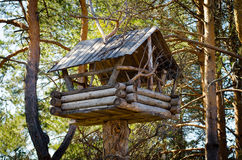 La cabina en las maderas Foto de archivo libre de regalías