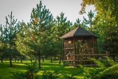La cabina nel legno Immagini Stock