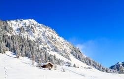 La cabina nelle montagne Immagini Stock Libere da Diritti